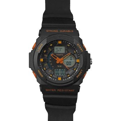 Men's Dakota Analog and Digital Tough Watch - Black/Orange