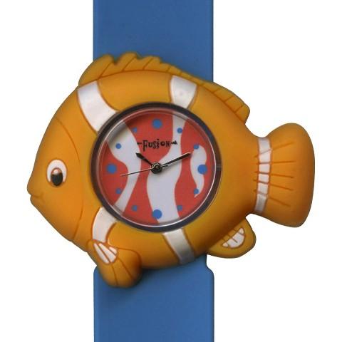 Boys' Fusion Fish Slap Bracelet Watch - Blue/Yellow