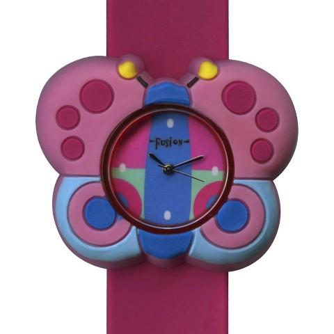 Girls' Fusion Butterfly Slap Bracelet Watch - Pink