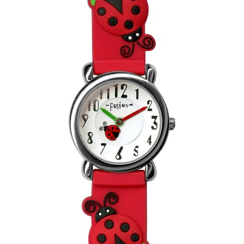 Girls' Fusion Ladybug Watch - Red/Black