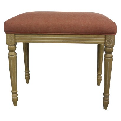 Tiffany Accent Stool - Distressed White