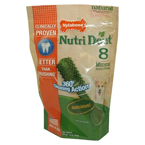 NutriDent Nylabone Medium Chews 8ct