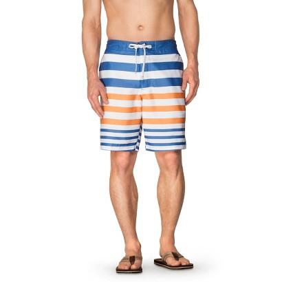"""Merona® Men's 9"""" Stripe Mozart Blue Faux Boardshort"""