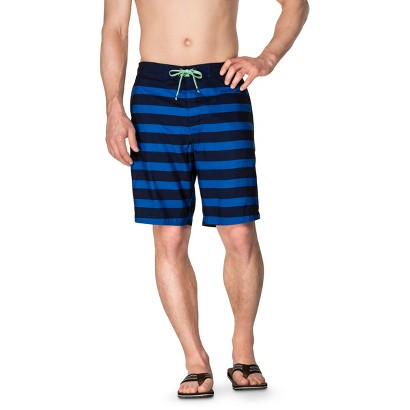 "Merona® Men's 9"" Stripe Cobalt Blue Faux Boardshort"