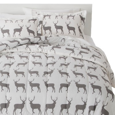ECOM Anorak Stag Comforter Set - Gray/White (Full/Queen)