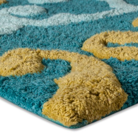Simple And Absorbent This Aqua All That Jazz Bath Rug Keeps Your Bath