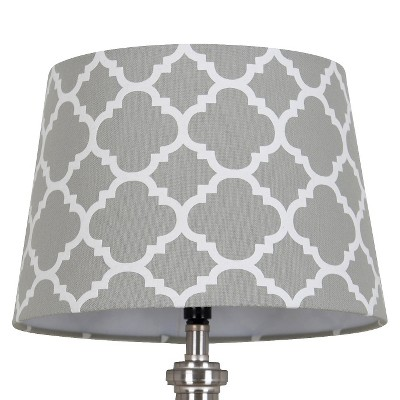 Threshold™ Flocked Ogee Lamp Shade Small - Gray Marble