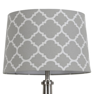 Threshold™ Flocked Ogee Lamp Shade Large - Gray Marble