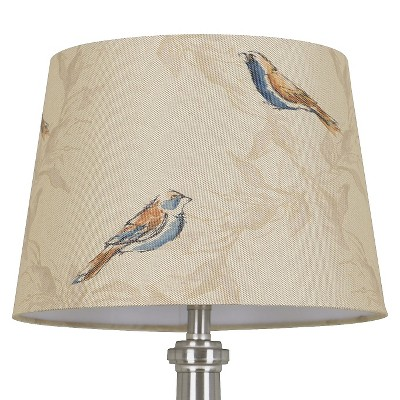 Threshold™ Linen Bird Print Lamp Shade Small - Tumbleweed