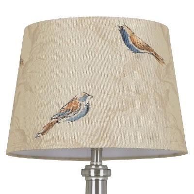 Threshold™ Linen Bird Print Lamp Shade Small - Tumbleweed