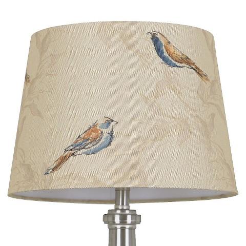Threshold™ Linen Bird Print Lamp Shade Small - T... : Target