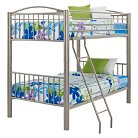 Twin Over Twin Bunk Bed Pewter - Powell Company