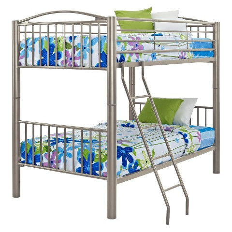Powell Twin Over Twin Bunk Bed - Pewter