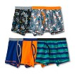 Boy's 5-Pack Space and Stripes Boxer Briefs
