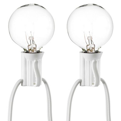 25ct Clear Globe String Lights - White String - Room Essentials™