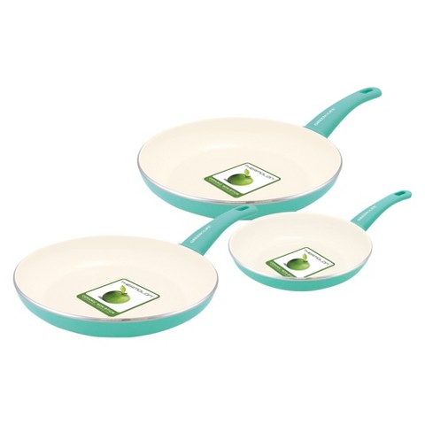 Set of 3 ceramic pans
