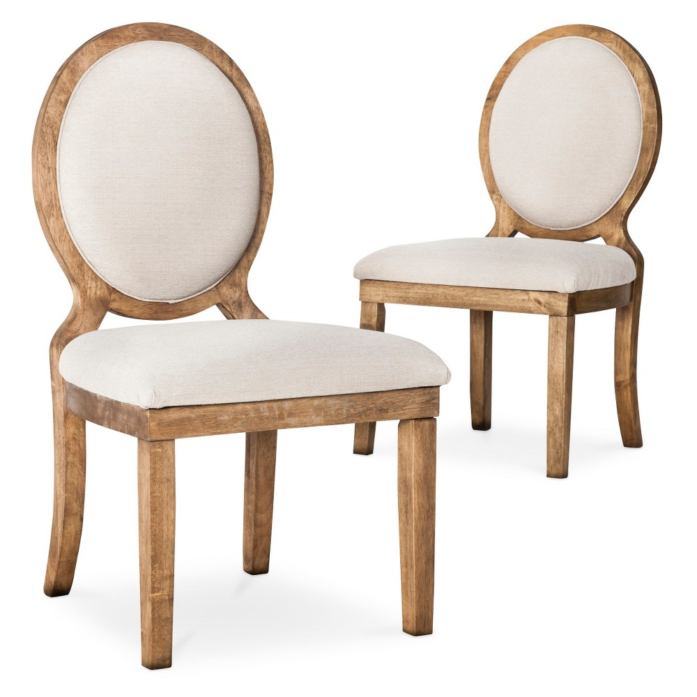 Wildon home crawford 3 piece oval dining set with cushion for Oval back dining room chairs