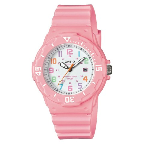 Women's Dive Style Watch with Glossy Strap Pink (LRW200H-4B2VCF) - Casio®