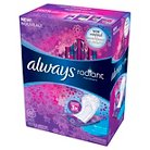Always Radiant Pantiliners Regular Wrapped Unscented - 48 Count
