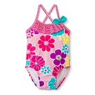 Toddler Girls' One Piece Floral Swimsuit