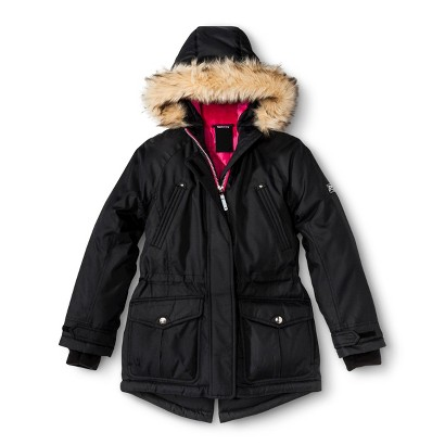 R-Way by ZeroXposur Girls' Parka with Faux Fur Hood