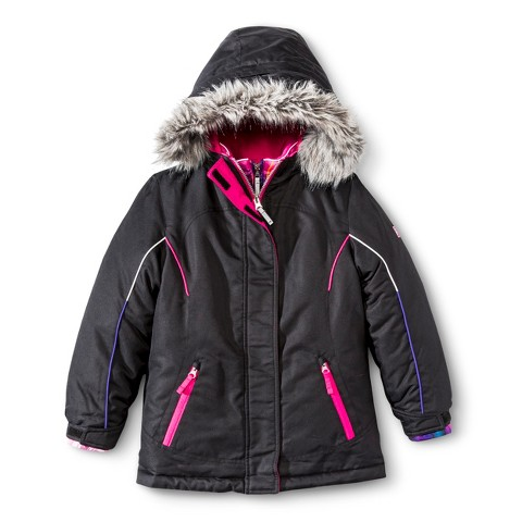 R-Way by ZeroXposur Girls' 3-in-1 Systems Jacket with Faux Fur Hood