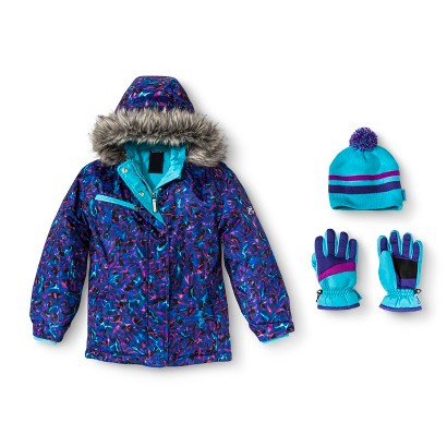 R-Way by ZeroXposur Girls' Tech Jacket with Matching Hat and Gloves
