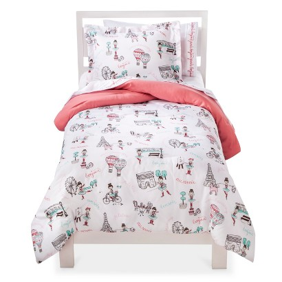 Circo Travel Comforter Set - White/Coral (Full)
