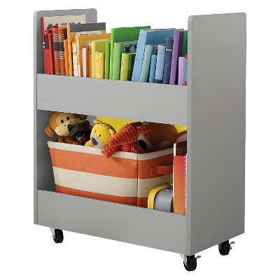 Rolling Toy Storage Cart with Paper Veneer - Grey - Circo™
