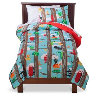 Circo Bug Comforter Set - Blue/Brown (Twin)