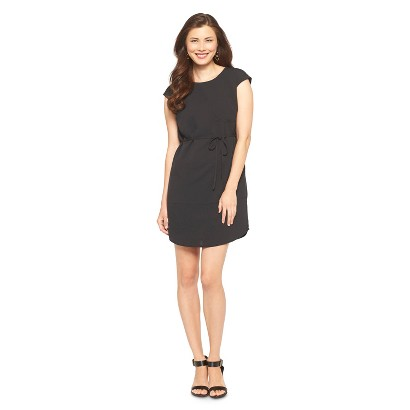 Women's Crepe Shift Dress w/Tie