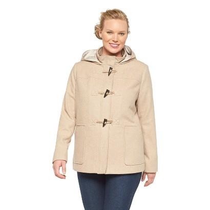 Women's Plus Size Duffel Coat Beige X-Merona
