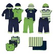 Yoga Sprout™ Newborn Boys' 15 Piece Deluxe Gift Set - Navy/Green