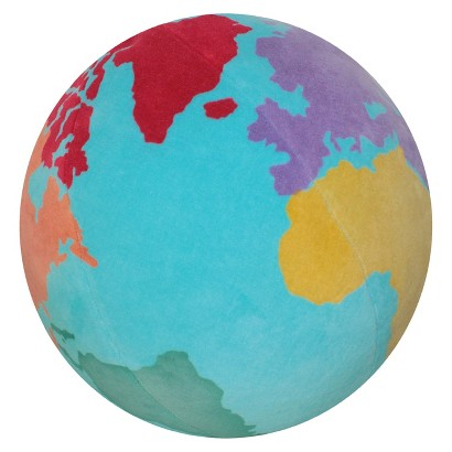 Circo Globe Embroidered Pillow
