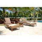 Grenada Wicker 3-Piece Wicker Chaise Lounge Furniture Set