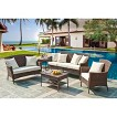 Panama Jack™ Key Biscanye 5-Piece Wicker Patio Conversation Furniture Set