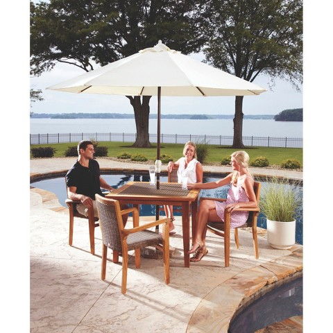 Panama Jack™ Leeward Island 5-Piece Teak/Wicker Patio Dining Furniture Set