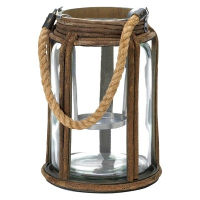 "Rope Handle Lantern - 10.5"""