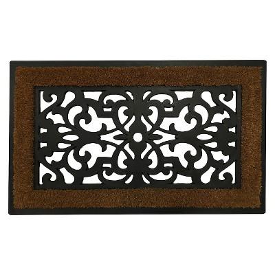 """Threshold™ Rubber/Coir Doormat (1'6""""x2'6"""")"""