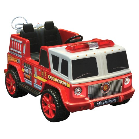 Kid Motorz Fire Engine 12V Two Seater Ride On