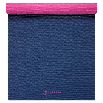 Gaiam Navy & Pink 2-Color Yoga Mat (3mm)