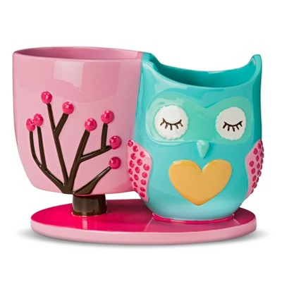 Circo™ Floral Owl Toothbrush Holder