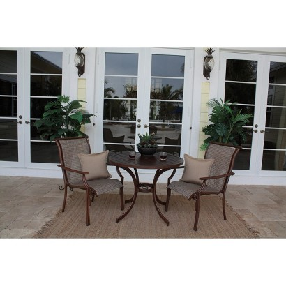 Chub Cay 3-Piece Patio Bistro Furniture Set