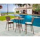 Panama Jack™ Key Biscayne 3-Piece Wicker Bar-Height Patio Furniture Set