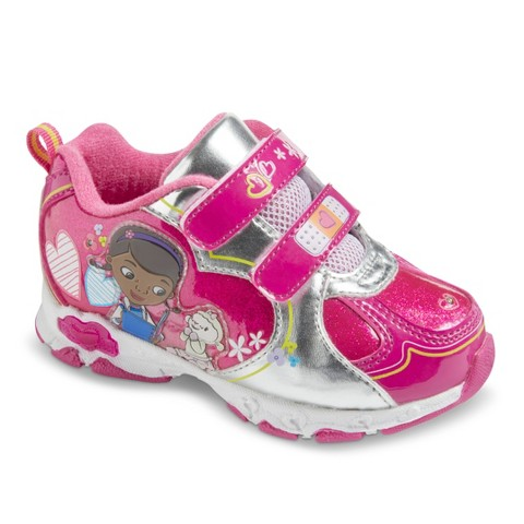 Toddler Girl's Doc McStuffins Light Up Sneakers - Berry