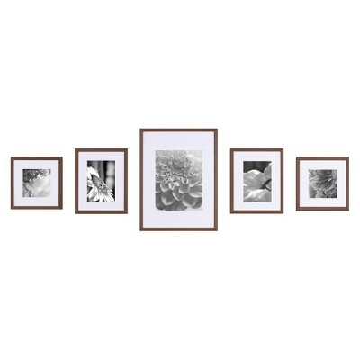 Gallery Perfect Wall Kit 5 Piece  – Walnut