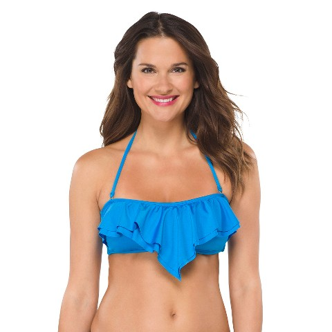 Women's Bandeau Swim Top Marine Blue - Lili Blu