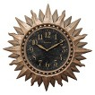 Westclox Sunburst Gold Clock