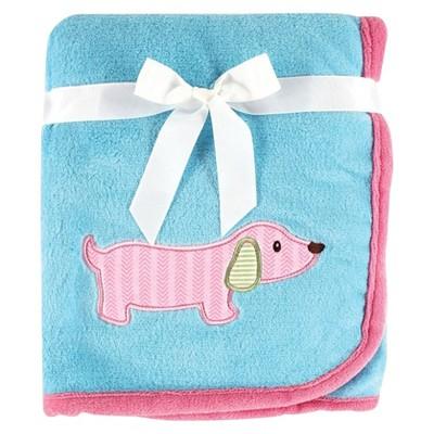 Hudson Baby Animal Appliqué Baby Blanket - Dog