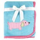 Hudson Baby Large Animal Appliqué Blanket - Dog